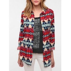 BDG Sunset Aztec Flannel Shirt